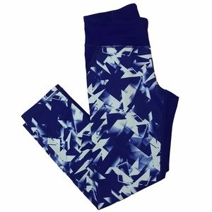 Under Armour HeatGear Fitted Cropped Leggings Blue